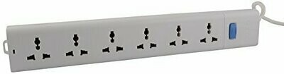 Bull 6 Sockets, 1 Switch 5mtr Extension Board
