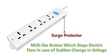 Bull 4 Sockets, 1 Switch Circuit Breaker 3mtr Extension Board