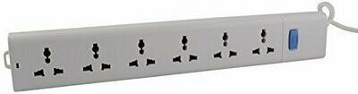 Bull 6 Sockets, 1 Switch 2mtr Extension Board