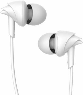 boAt BassHeads 100 in-Ear Headphones with Mic, White