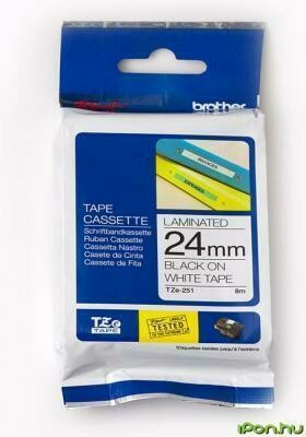 Brother TZe-251 Black on White 24mm Label Tape