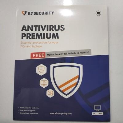 1 User, 1 Year, K7 Antivirus, Premium