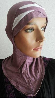 Nina Bonnet bicolore altrosa-weiss/vieux rose/blanc