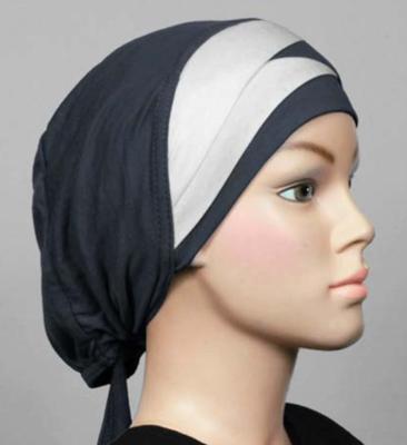 Bonnet bicolore grau - dark grey