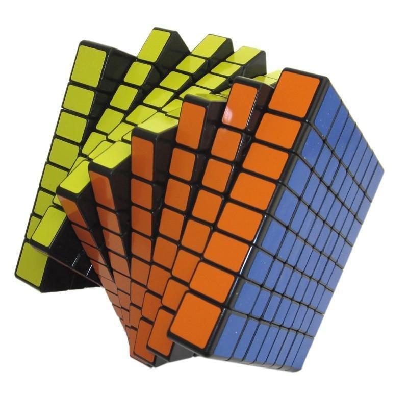 ShengShou® 8x8x8 8cm Black Twisty Speed Cube Puzzle-Speed Cube
