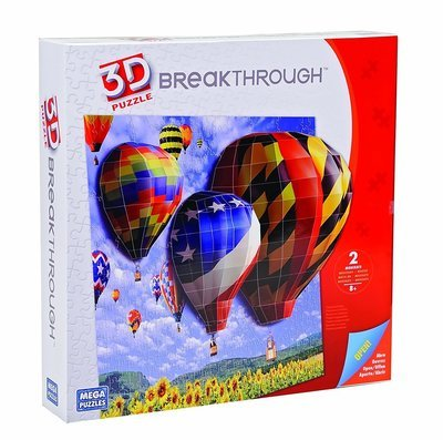 Real 3D Puzzle Hot Air Balloons 3D Breakthrough Puzzle DIY