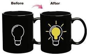 Thermal Sensitive Color Changing Mug (Bulb)-  Coffee Tea Milk Cup