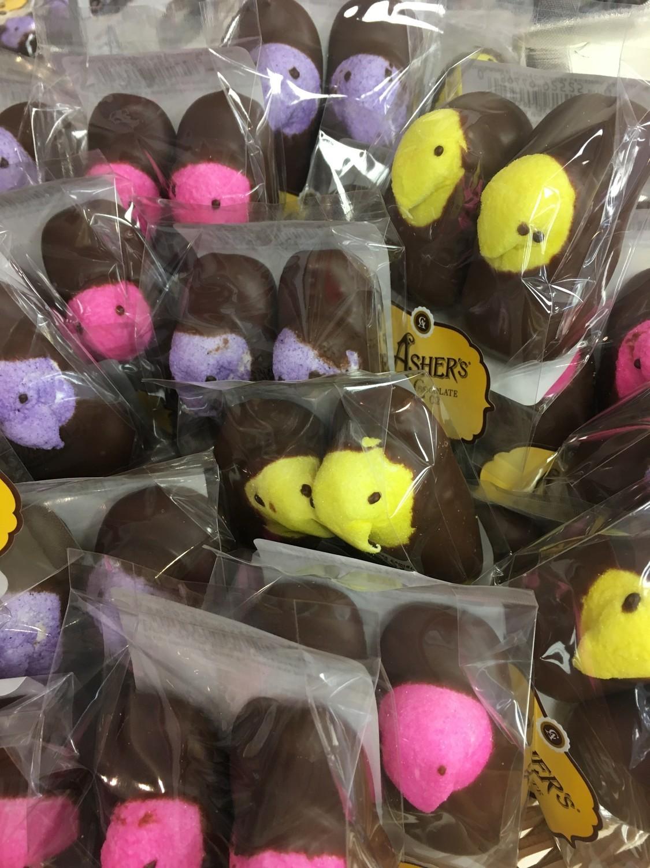 F - Chocolate Covered Peeps