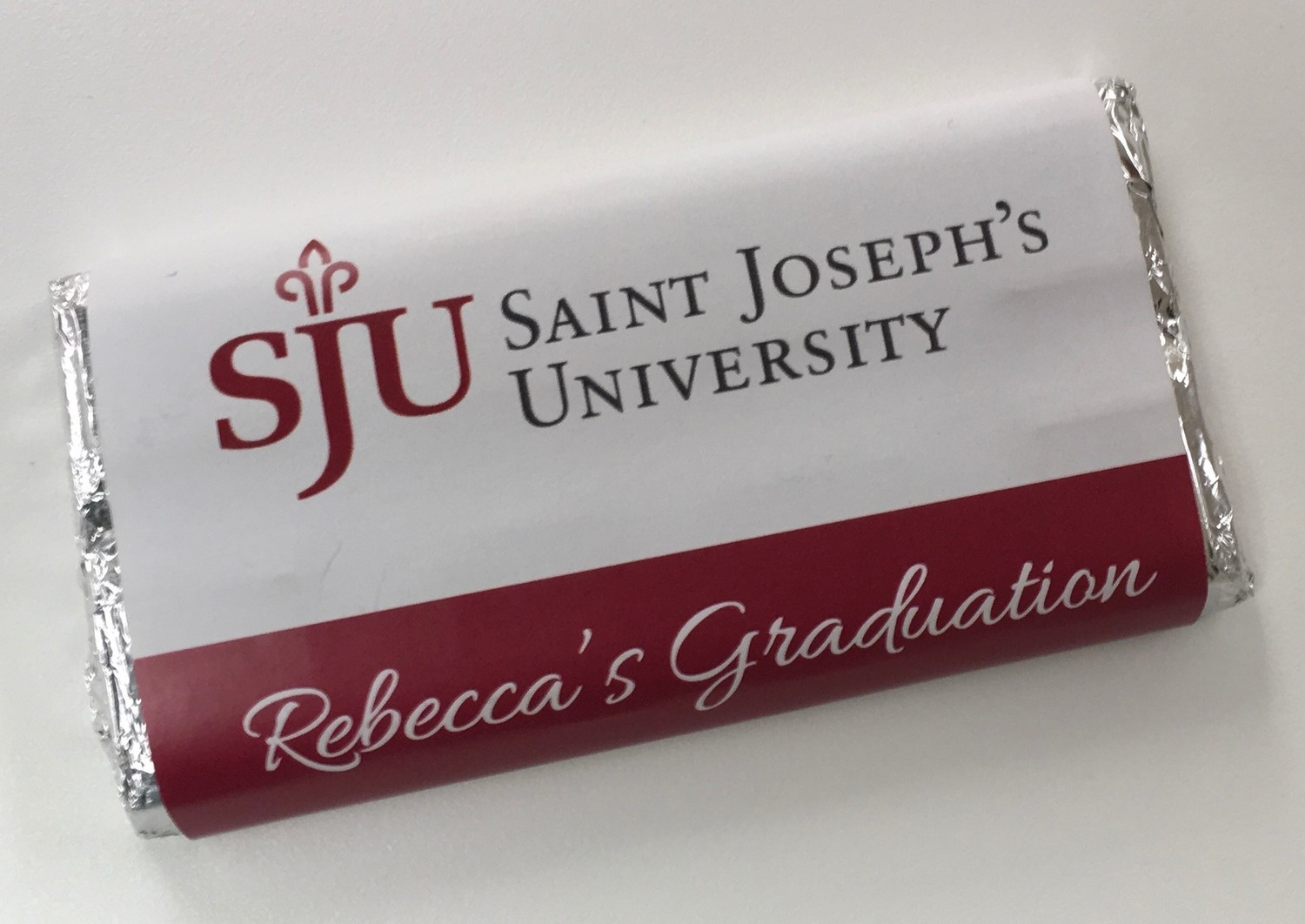 Chocolate Candy Bar with Personalized Wrapper.