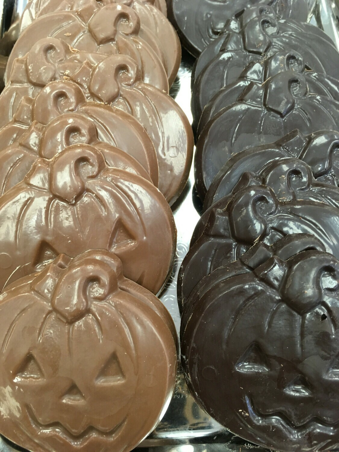One Pound of Chocolate Pumpkin Faces