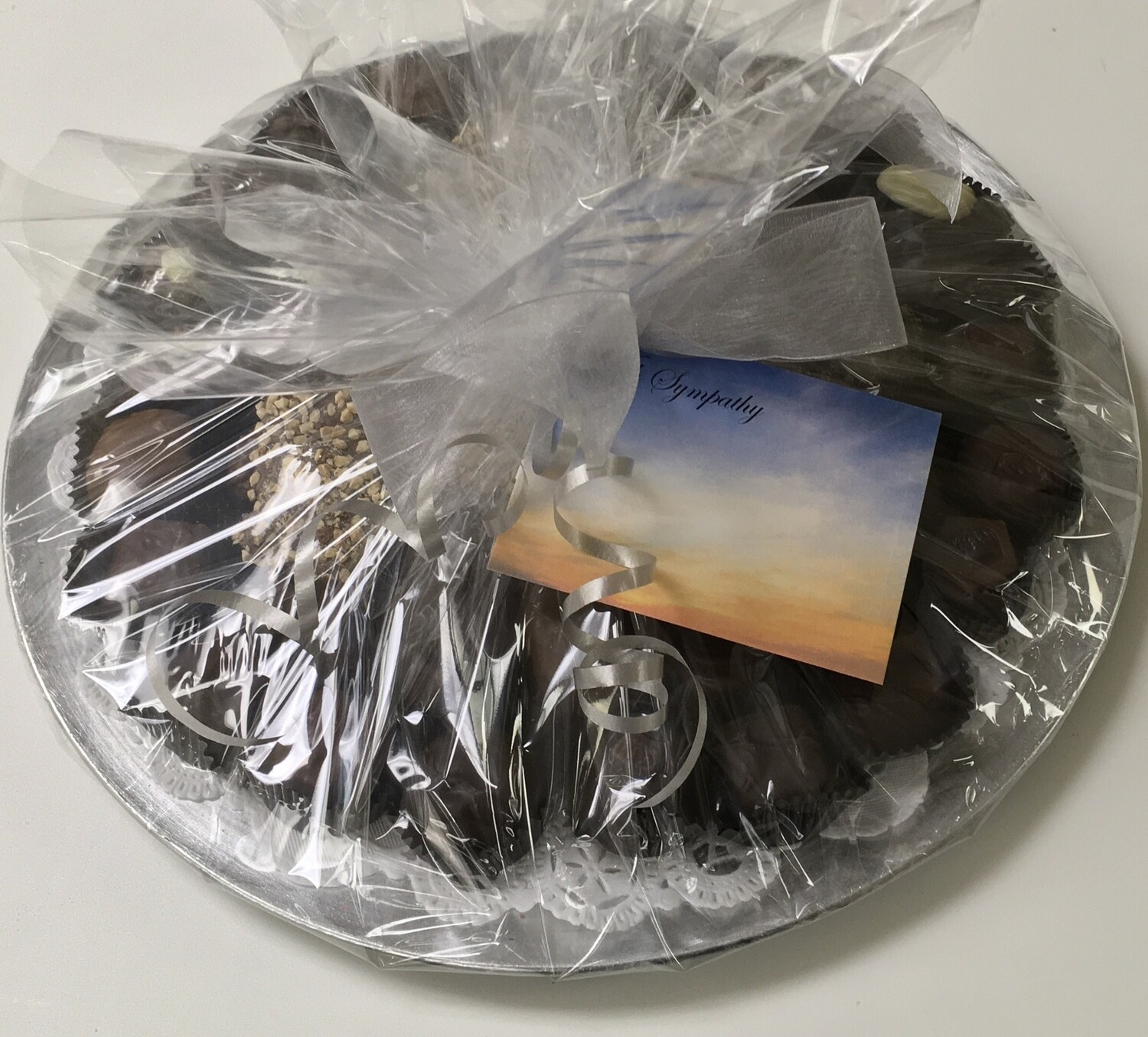 F - Sympathy Tray.  The Best of Carella's Chocolates.  PICK UP OR DELIVERY ONLY IN MERCER COUNTY, NJ