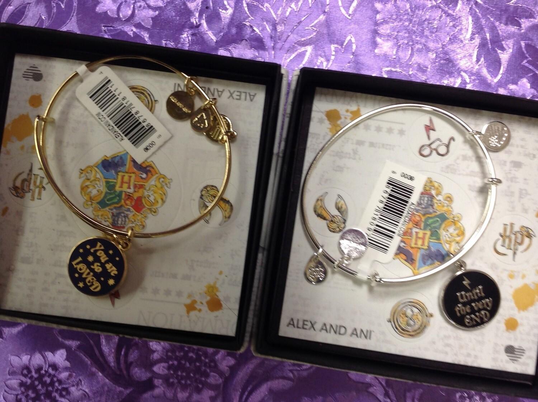 Harry Potter Bangle Bracelets.  2 Designs.