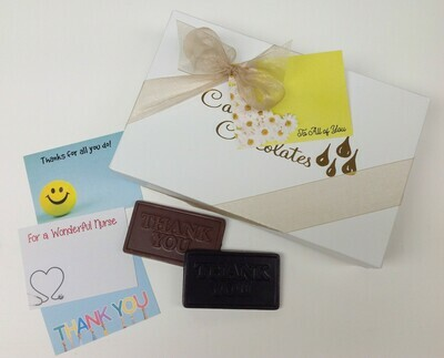 2 Pounds plus of Assorted Chocolates.  Bowed with card.  FREE SHIPPING!  Add a Thank you Bar.