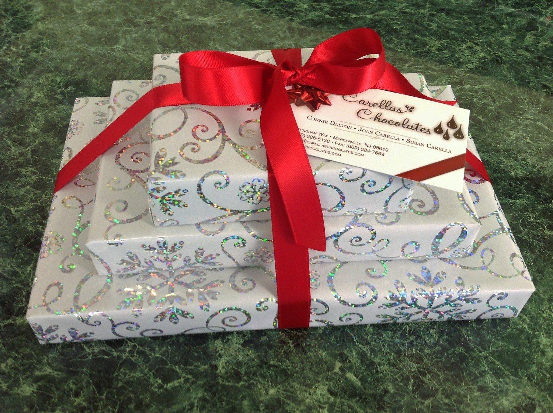 Triple Red, 1 Lb. Assorted Chocolates, 1/2 Lb. Truffles, 1/3 Lb. Mini Pretzels Asst. Wrapped w/Bow