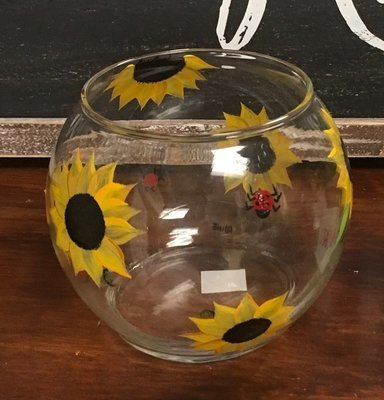 Sunflower Candy or Candle Bowl.  4