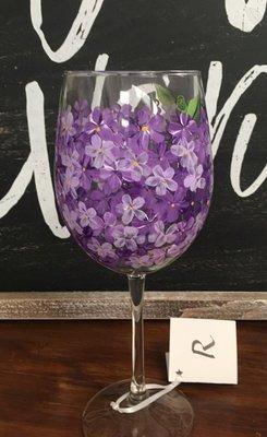 Lavendar Wine Glass. 9