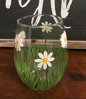 Daisy Stemles Wine Glass. 5