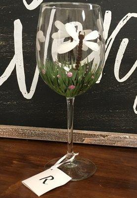 Dragonfly Wine Glass. 9