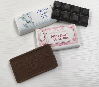 Personalized Baby Shower Chocolate Bars.  (Chocolate included) Thank you bar or Chocolate Bar.