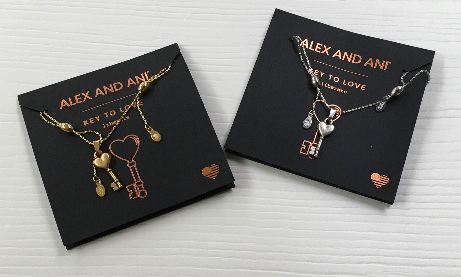 Key to Love Alex and Ani Necklace.  Expandable
