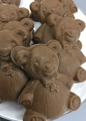 Solid Chocolate Teddy Bears.  Milk Chocolate Only.  3