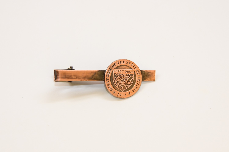 State Seal Copper Tie Bar