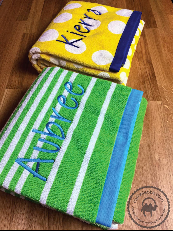 "Custom Embroidered Charisma Extra Large Resort Beach Towel 35"" x 70"", Seasonal Item - Limited Quantity"