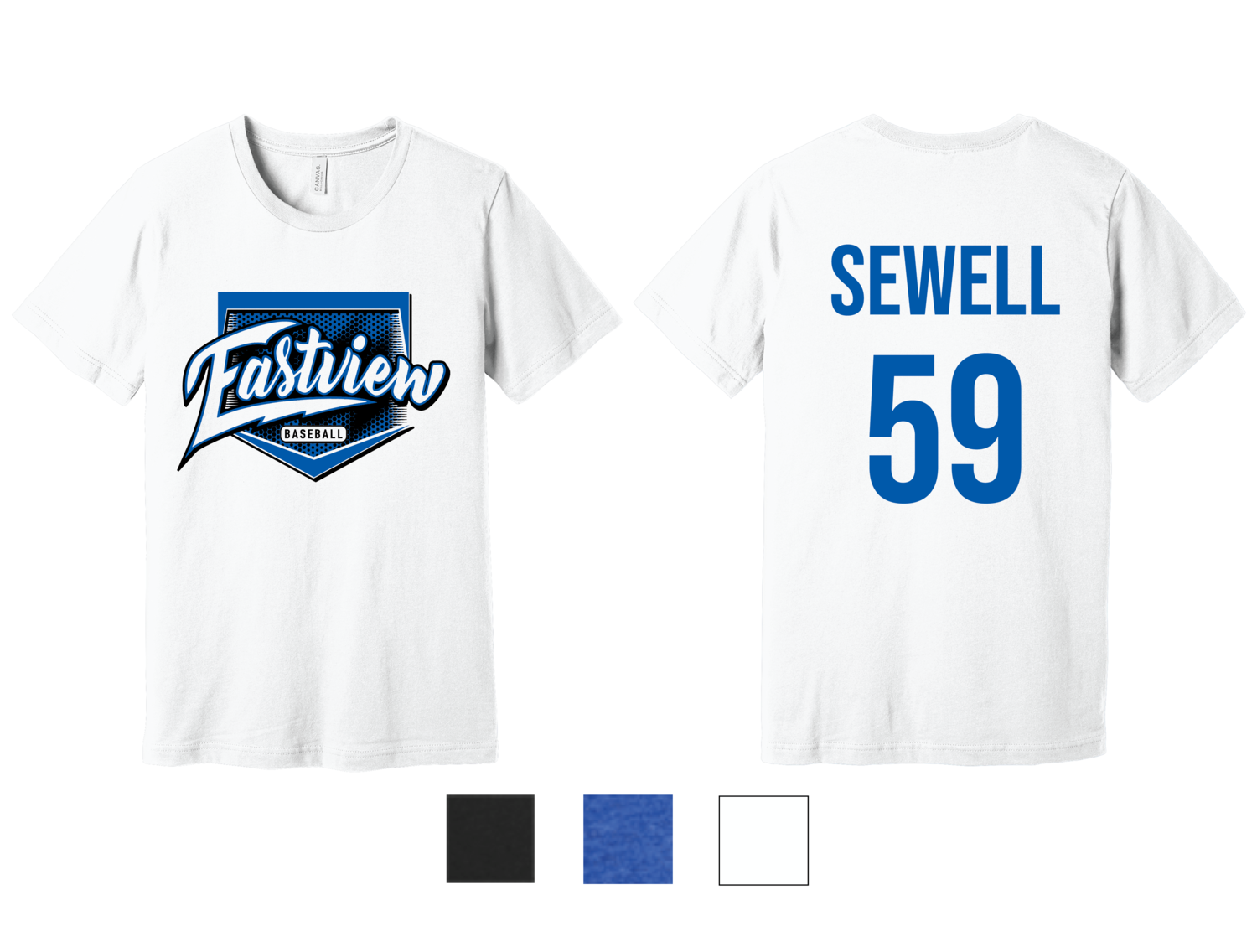 Eastview Baseball Bella+Canvas® Unisex Blend Short Sleeve Tee