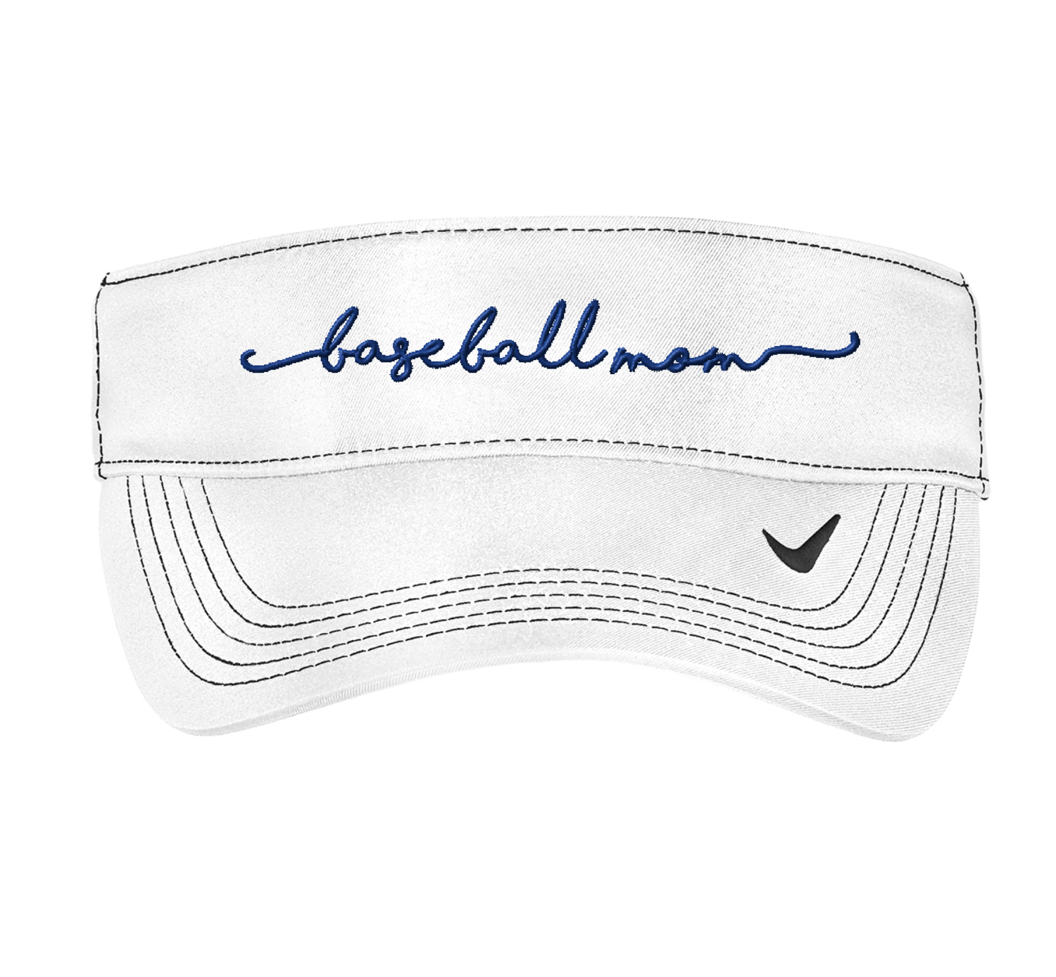 Embroidered Baseball Mom Visor - Nike Dri-FIT Swoosh Visor