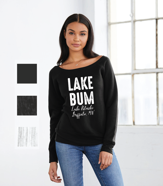 Lake Bum Wide Neck Sweatshirt