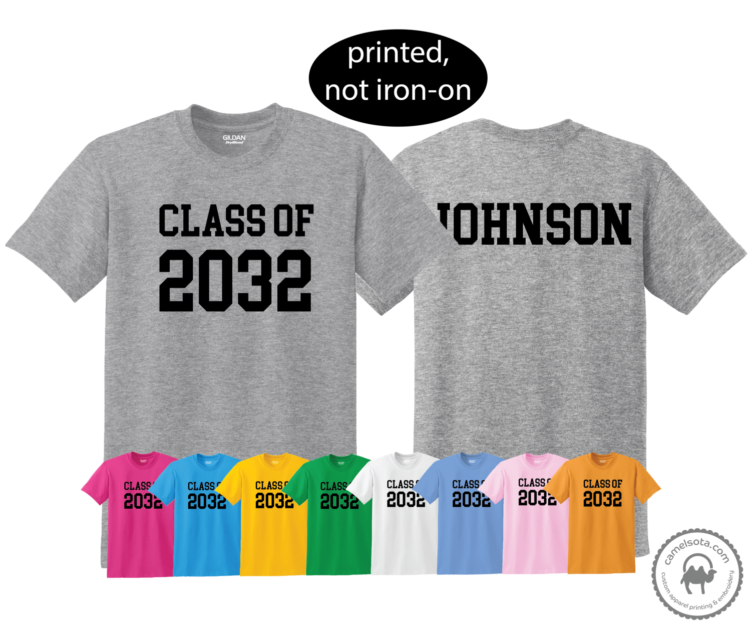 Personalized First Day of School Picture Shirt - Class of 2032 grow with me shirt - Customize Year and Name
