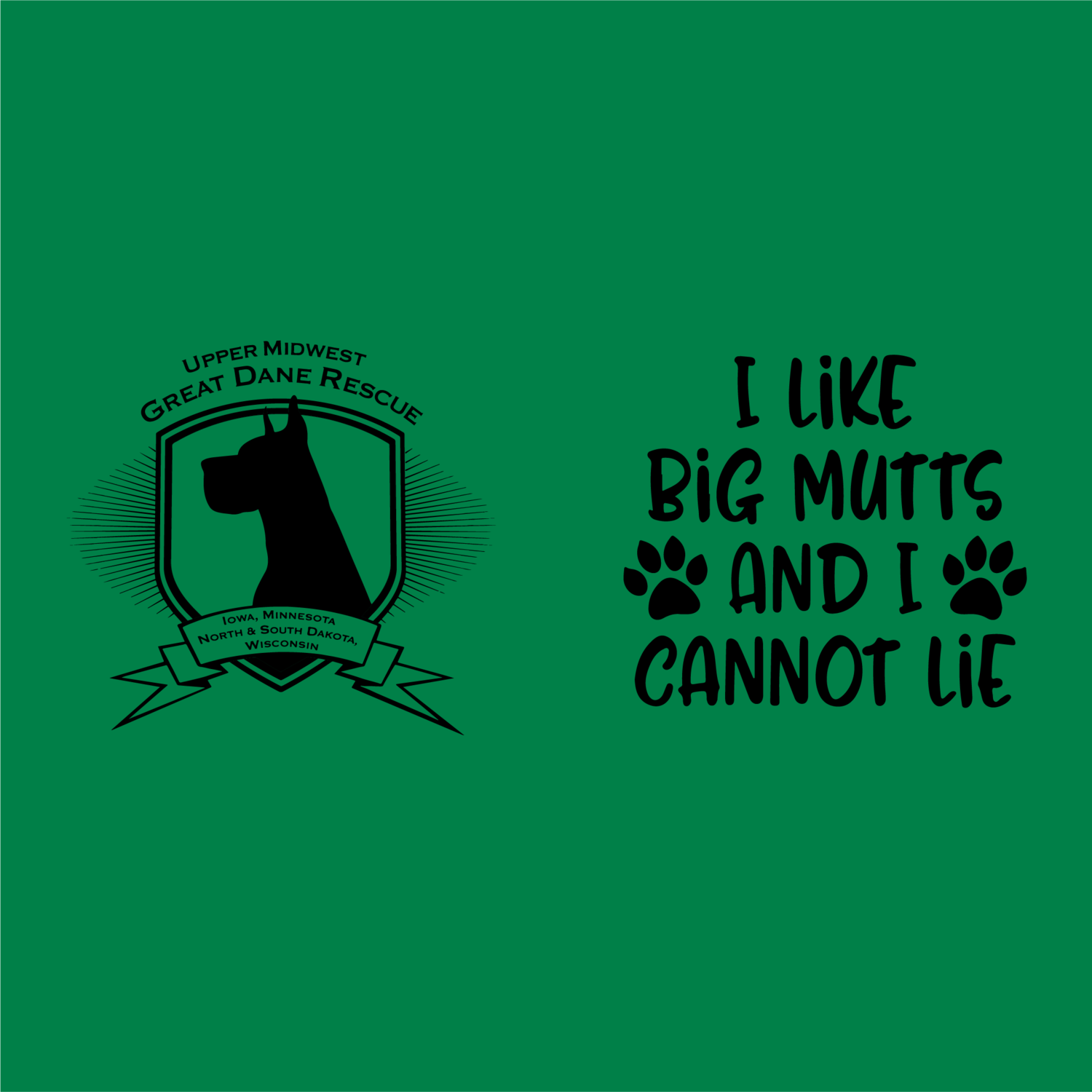 Upper Midwest Great Dane Rescue Shirts and Hoodies