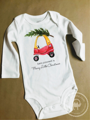 Funny Christmas Tree Tike Coupe Shirt and Bodysuit