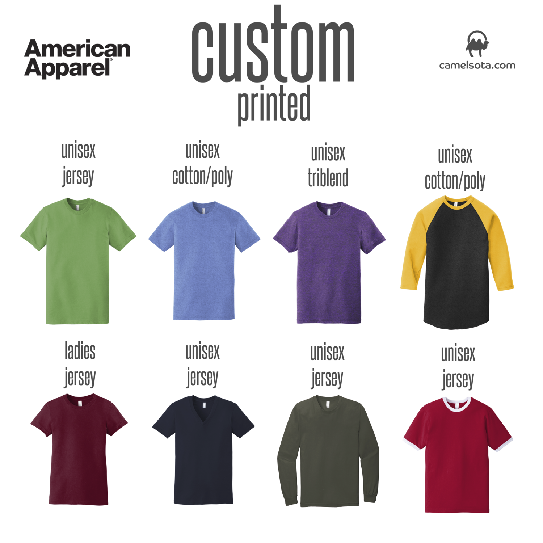 Custom American Apparel Brand Shirts