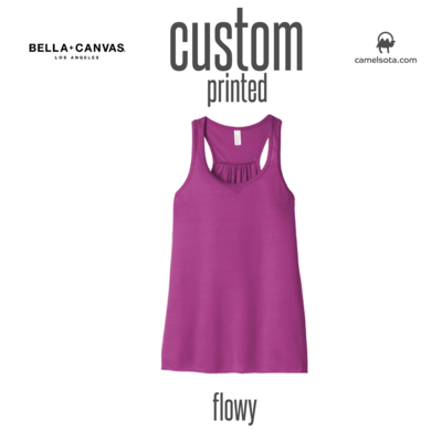 Custom Bella+Canvas Women's Flowy Racerback Tank