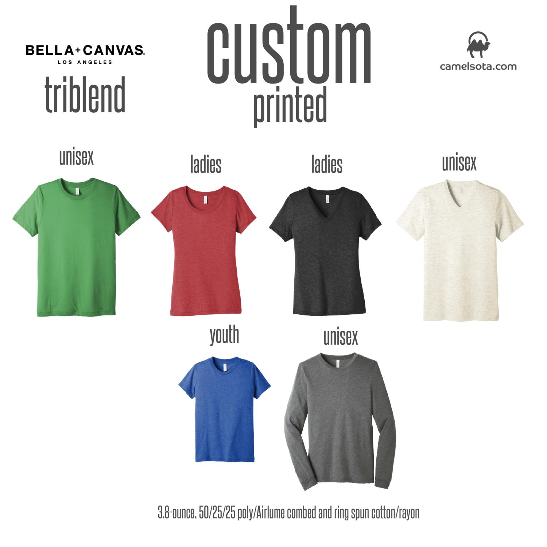 Custom Bella+Canvas Triblend Shirts