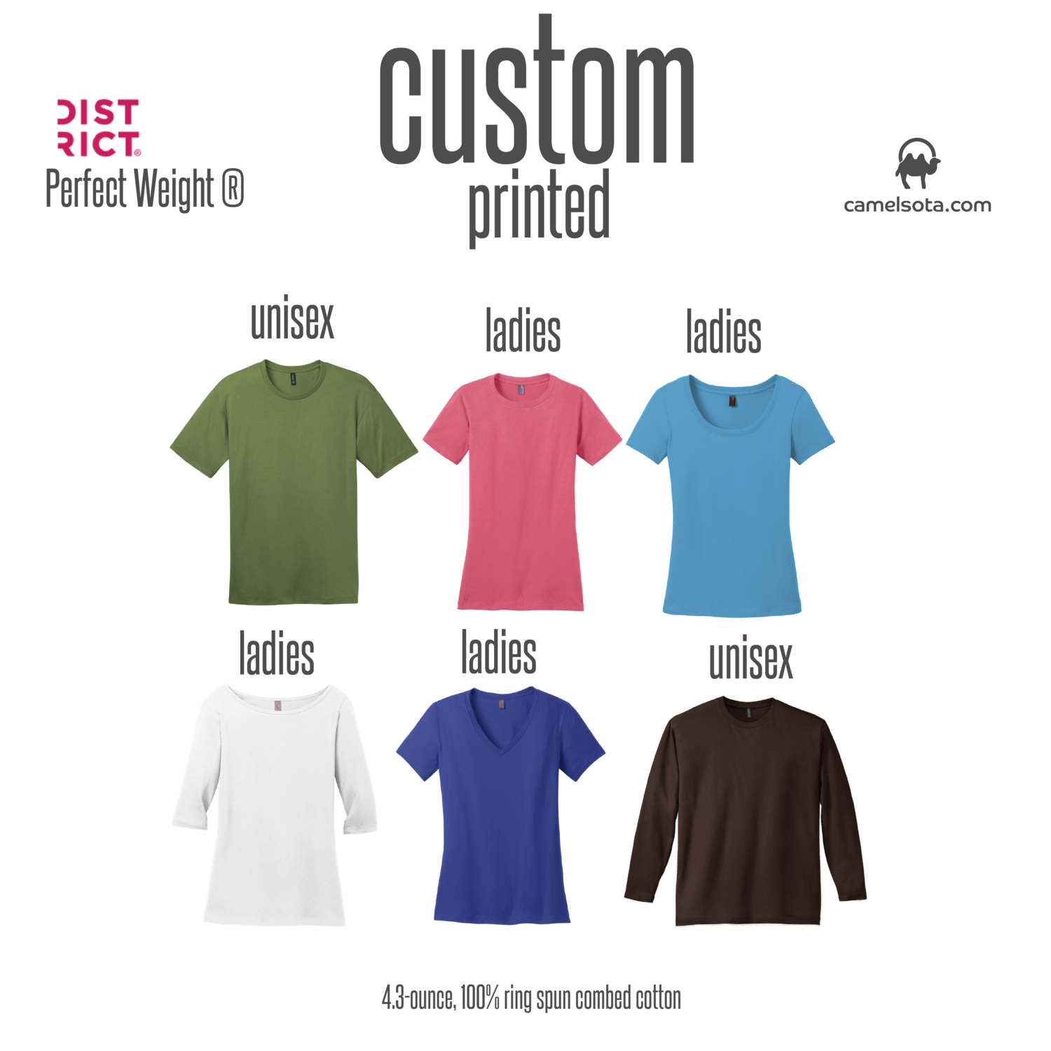 Custom District Perfect Weight T-Shirt