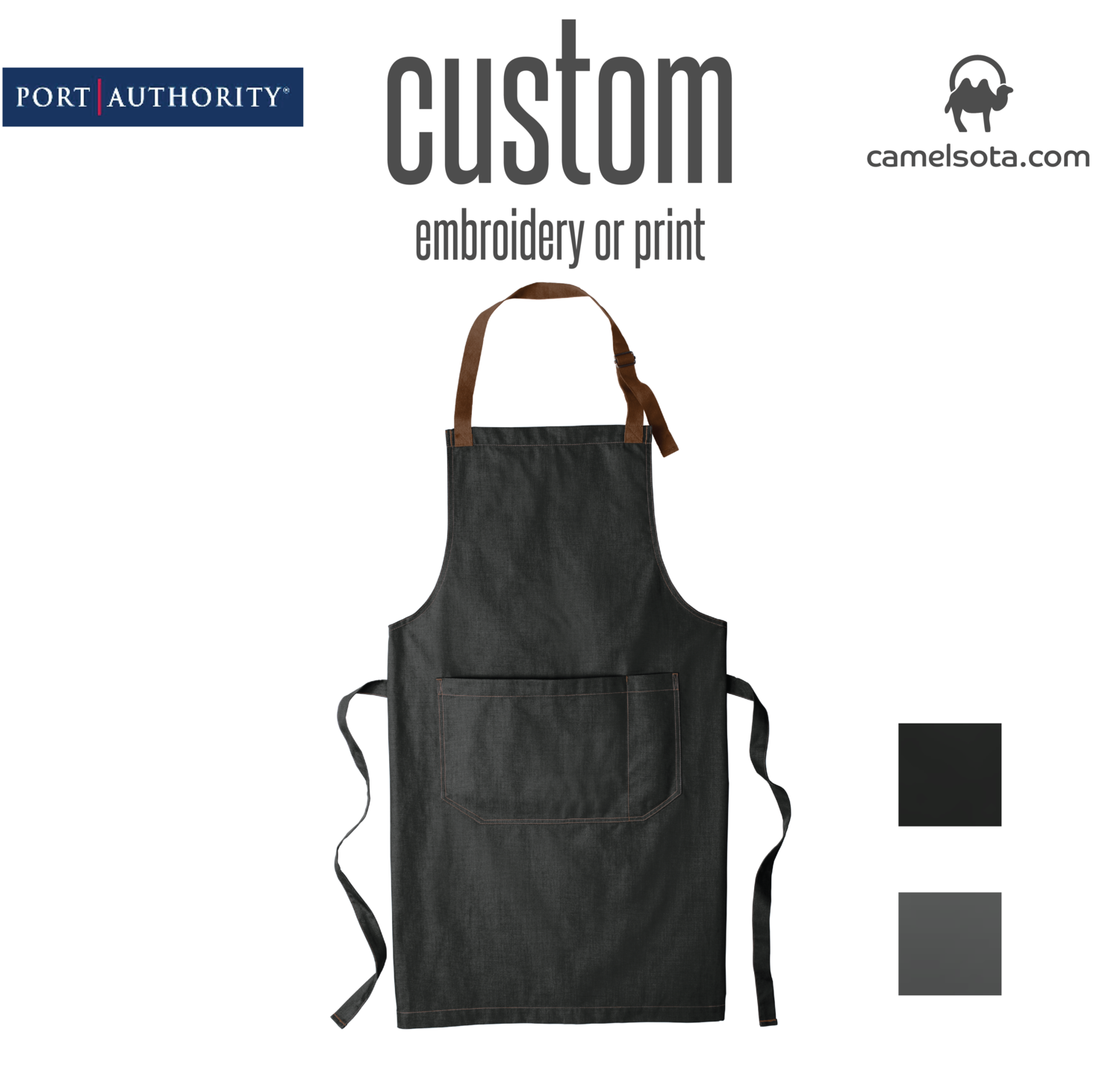 Custom Port Authority Market Full-Length Bib Apron
