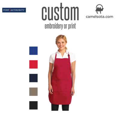Custom Port Authority Easy Care Full-Length Apron with Stain Release