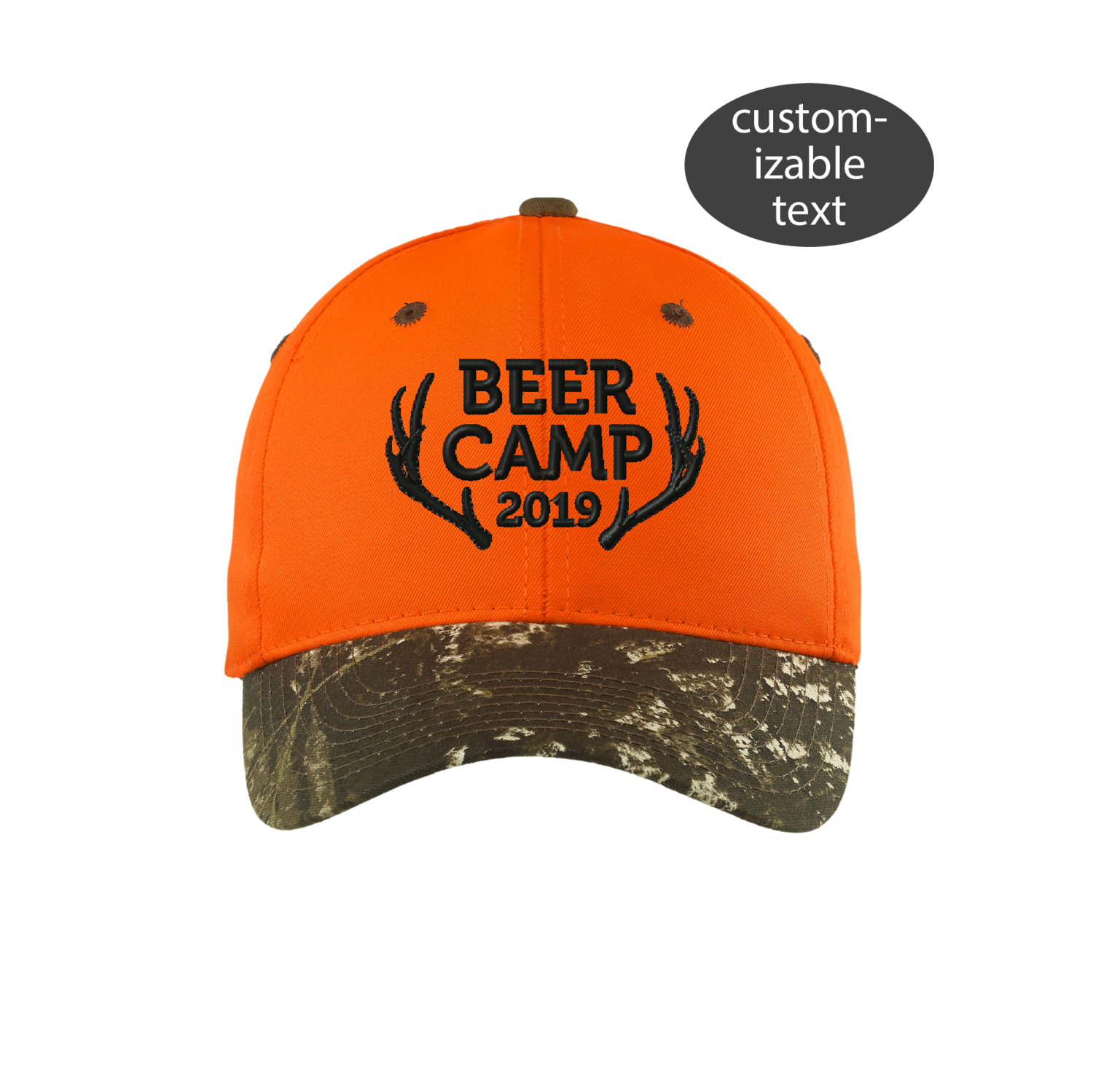 Embroidered Hunting Group Party Hat, Beer Camp Hat