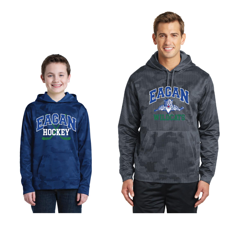 Sport-Tek® Sport-Wick® CamoHex Hooded Pullover