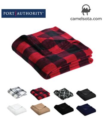 Custom Embroidered Port Authority Ultra Plush Blanket