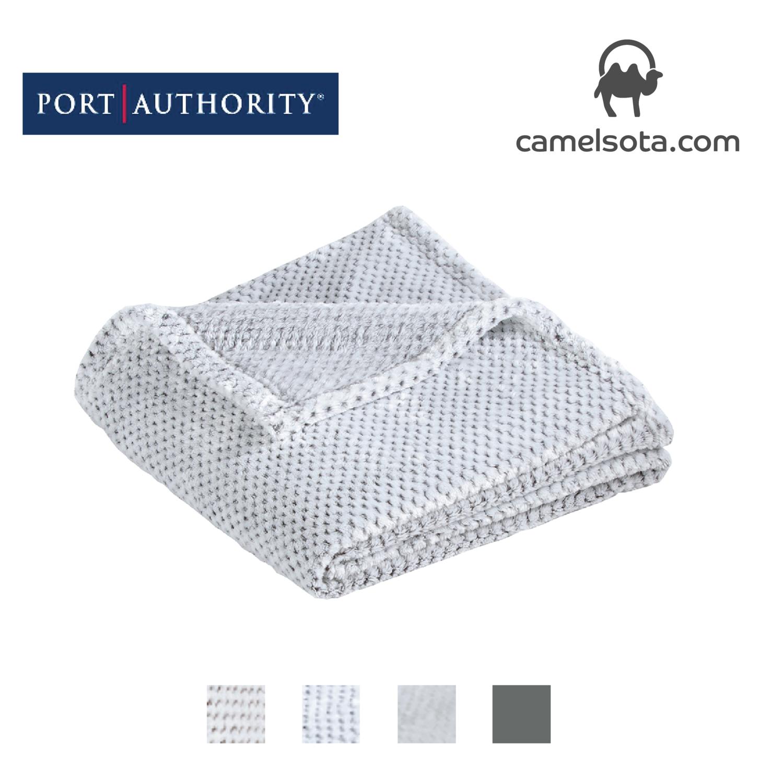 Custom Embroidered Port Authority Plush Texture Blanket