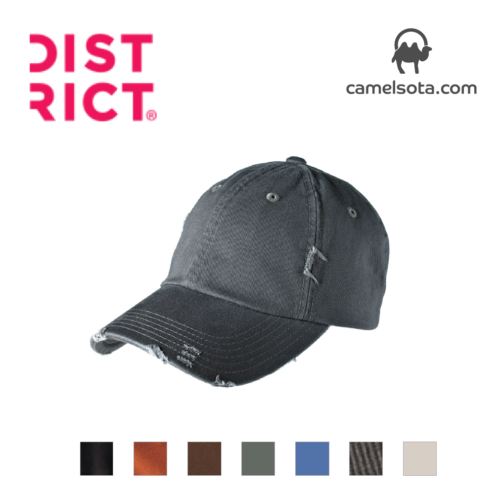 Custom Embroidered District Distressed Cap