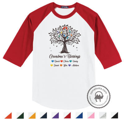 Grandma Tree Blessings Shirts with Grandkids Names