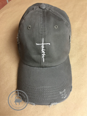 Embroidered Faith Hat