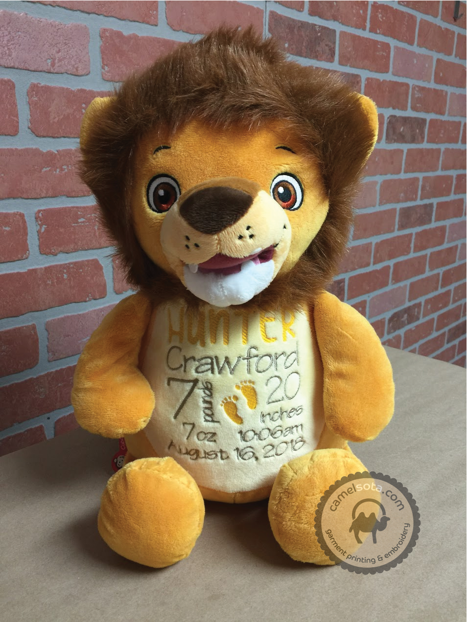 Custom Embroidered Lion Cubby - Numbutu Lion