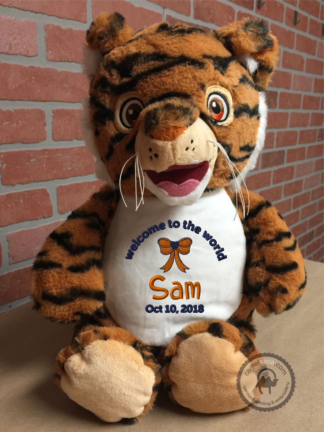 Custom Embroidered Tiger Cubby - Signature Tiger