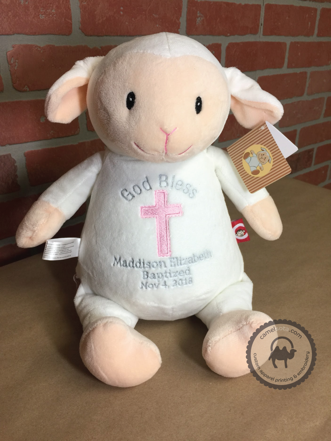 Custom Embroidered Lamb Cubby - Loverbee Lamb