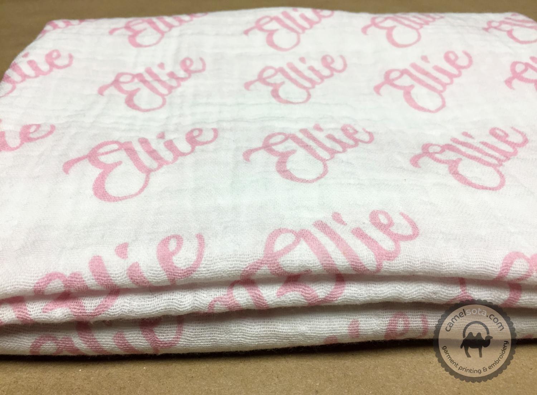 """Custom Printed Double Gauze Baby Swaddle Blanket, 45""""x45"""""""
